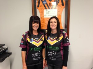Lisa and Cindy Jersey Day Sept 4th 2015