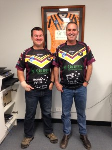Paul and John Jersey day Sept 4th 2015